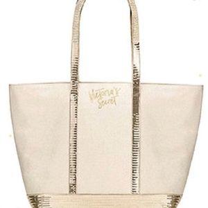 VS Gold Sequin Sparkle Tote Bag